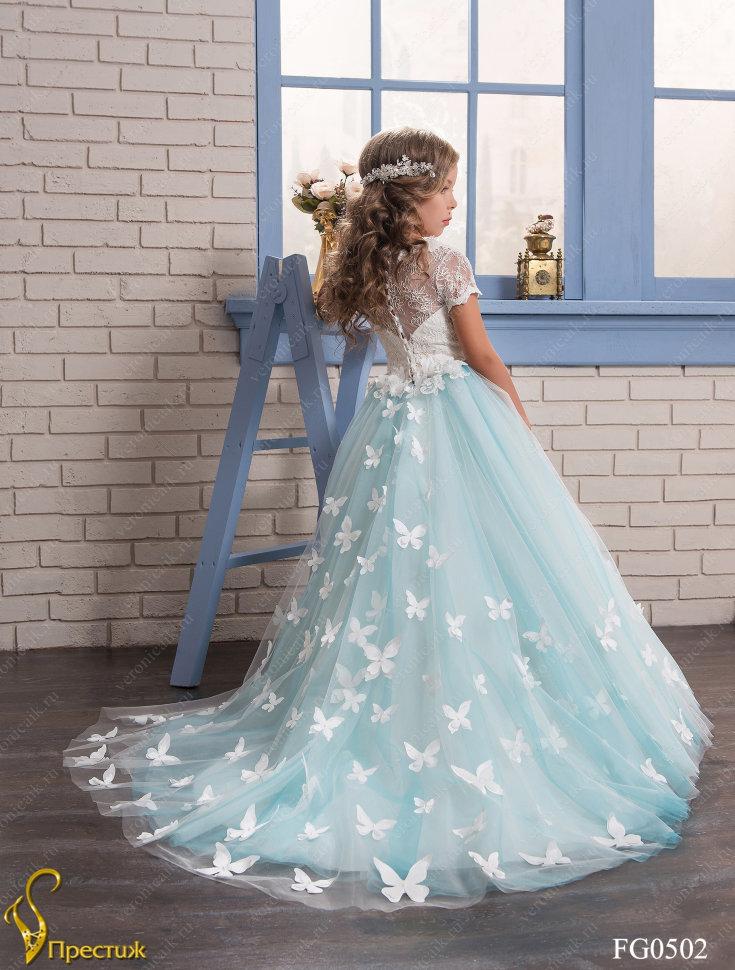 200970e6339 Платье бальное TRINITY bride арт.FG0502 молочный-бирюзовый