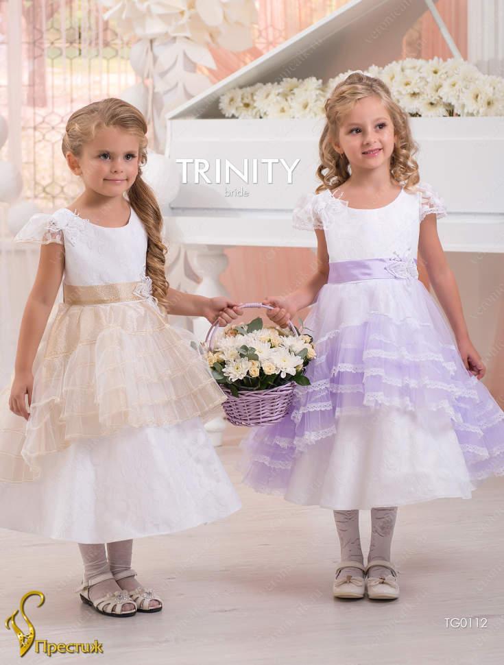 43645c94f00 Платье праздничное TRINITY bride арт.TG0112 белый-сиреневый