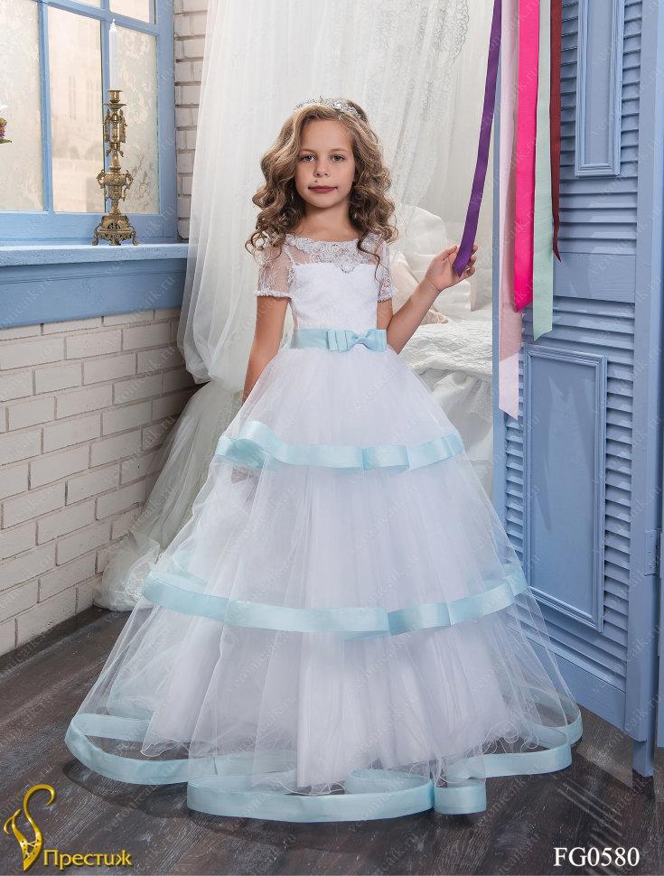 ddb93d084021 Платье бальное TRINITY bride арт.FG0580 белый-голубой