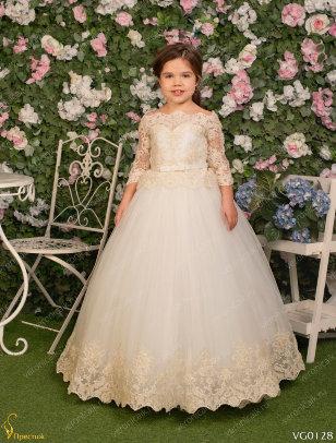Платье бальное Престиж VG0128 молочный