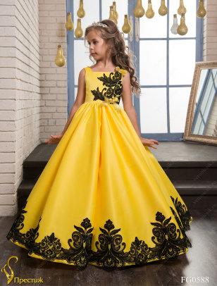 Платье бальное TRINITY bride арт.VG0588 желтый-черный