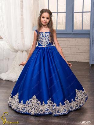 Платье бальное TRINITY bride арт.FG0586 королевский синий