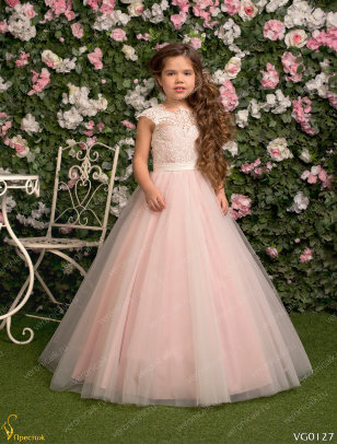 Платье праздничное Престиж VG0127 пудра