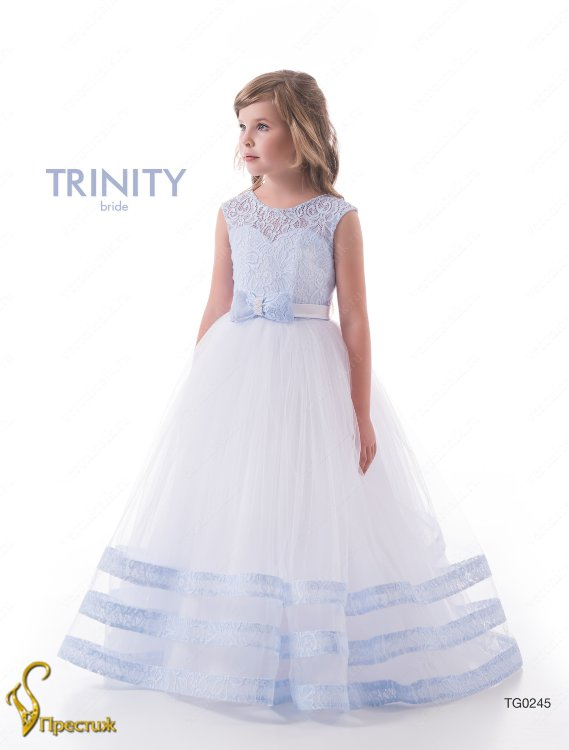 45566bb73c23 Платье бальное TRINITY bride арт.TG0245 белый-голубой