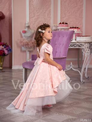 4c2ce453355 Платье праздничное VERONICA арт.VG0231 пудра молочное