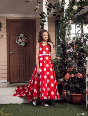 """Платье в горох в стиле """"Канкан"""" Престиж VG0107 цвет на выбор"""