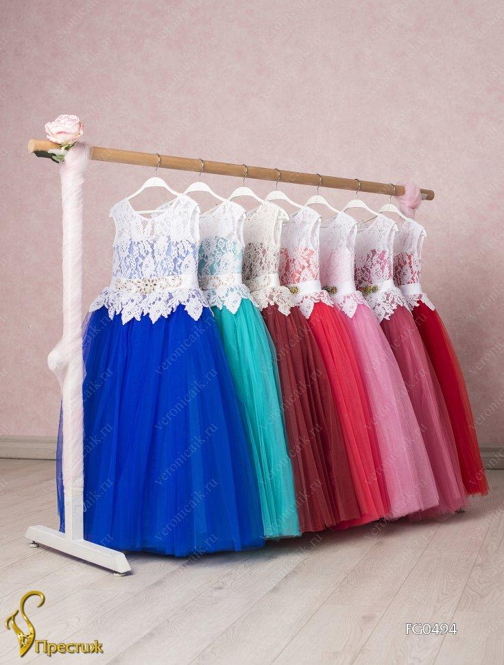 81138627484 Платье бальное TRINITY bride арт.FG0494 бирюзовый-белый. +. Посмотреть  больше фотографий