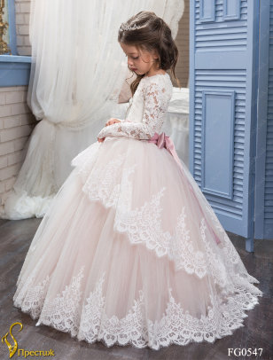 Платье бальное TRINITY bride арт.FG0547 молочный-пудра