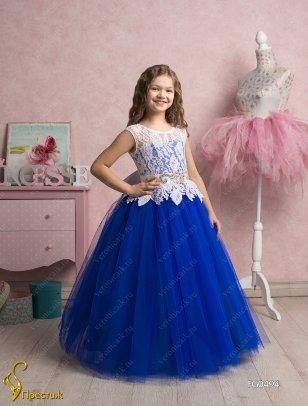 a4b9cd2359d Платье бальное TRINITY bride арт.FG0494 синий-белый