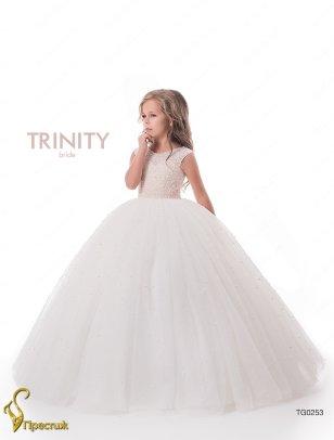 Платье бальное TRINITY bride арт.FG0253 молочный-розовый