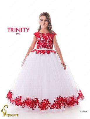 Платье бальное TRINITY bride арт.TG0225 белый-красный