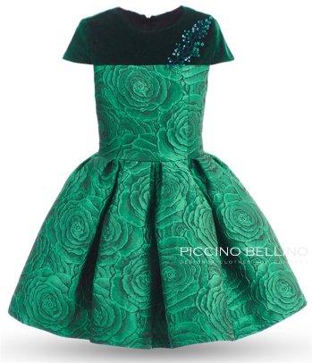 "Платье Piccino Bellino ""Изумруд"" жакард арт 0338"