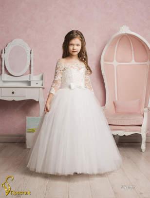 Купить белое платье для девочки на свадьбу