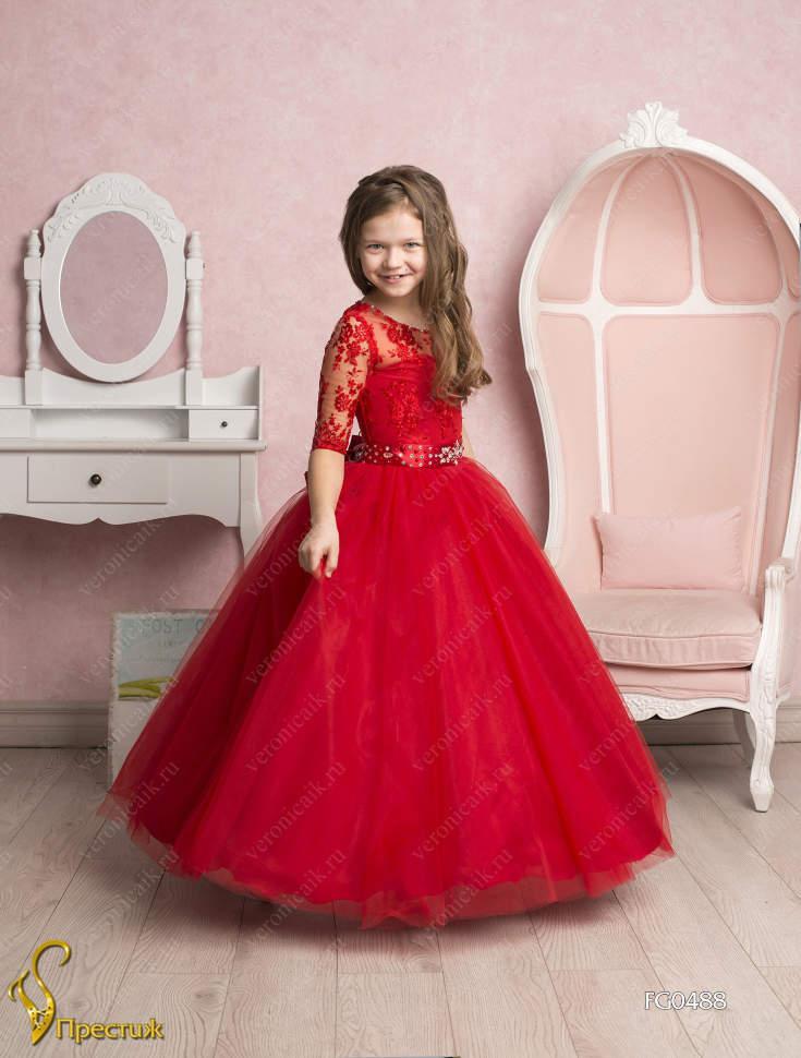 Красивое пышное платье для девочки