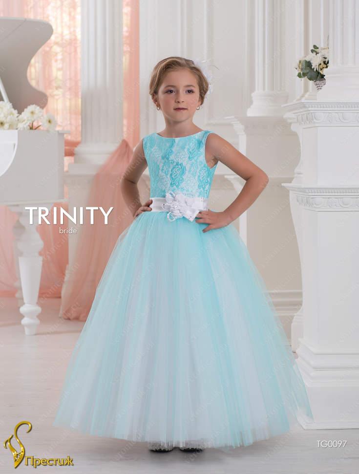 a78d9dd6589 Платье бальное TRINITY bride TG0097 белый-бирюзовый