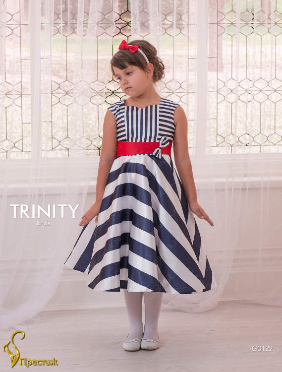 dccb4c0b5d5 Платье праздничное TRINITY bride арт.TG0122 белый-синий