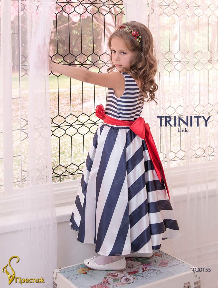 253bc85e7bb Платье праздничное TRINITY bride арт.TG0155 белый-синий